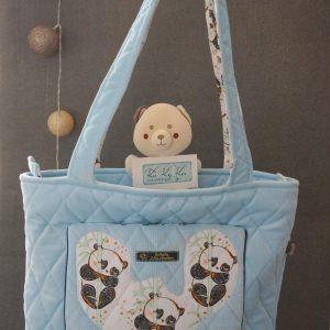 sac à langer bleu