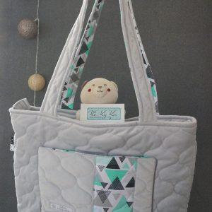 sac à langer gris